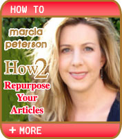 Marcia Peterson - Repurpose Your Articles