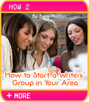 How To Start a Writers' Group in Your Area