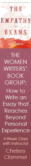 The Women Writers' Book Group: How to Write an Essay that Reaches Beyond Personal Experience