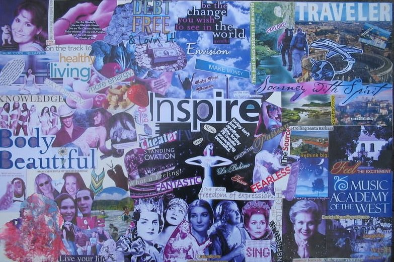 wow women on writing blog make a vision board for your